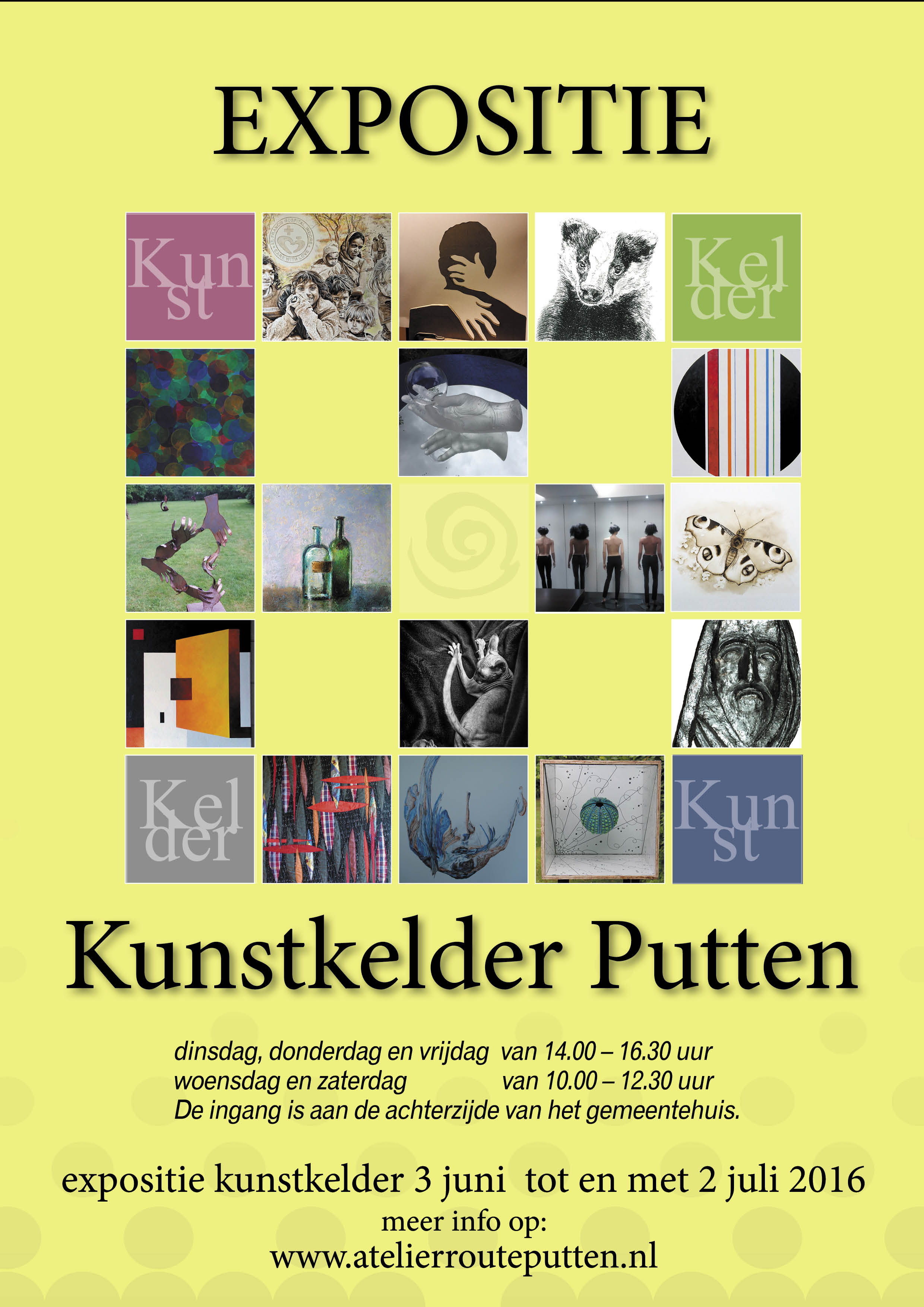 2016 kunstkelder poster A4-2-yellow-bkgrnd